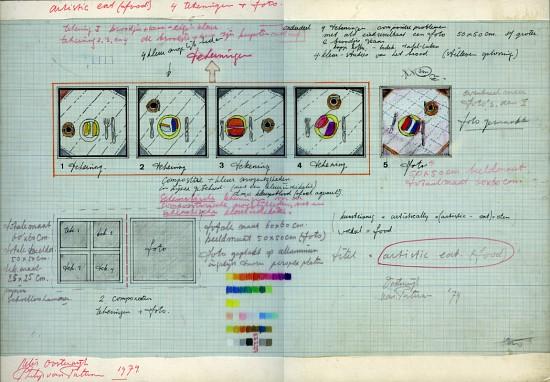 ontwerp artistic food 1974